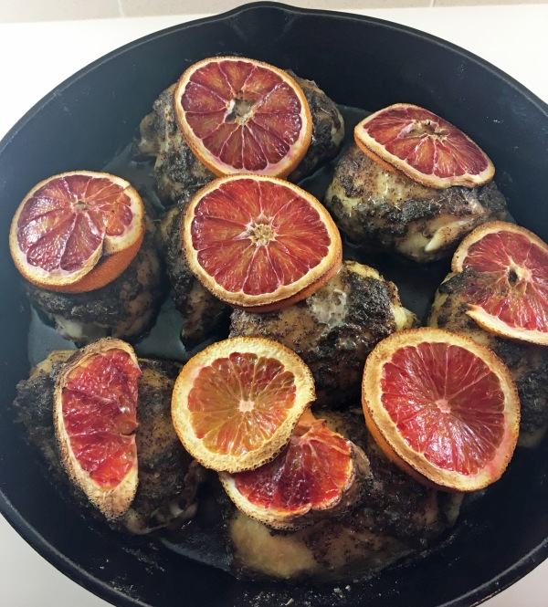 Pan Roasted Blood Orange Chicken