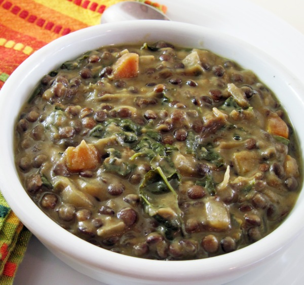 Slow Cooker Creamy Lentil Soup