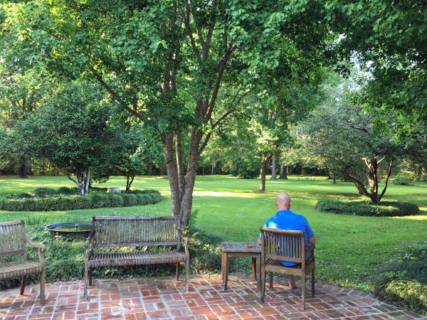 Peaceful backyard