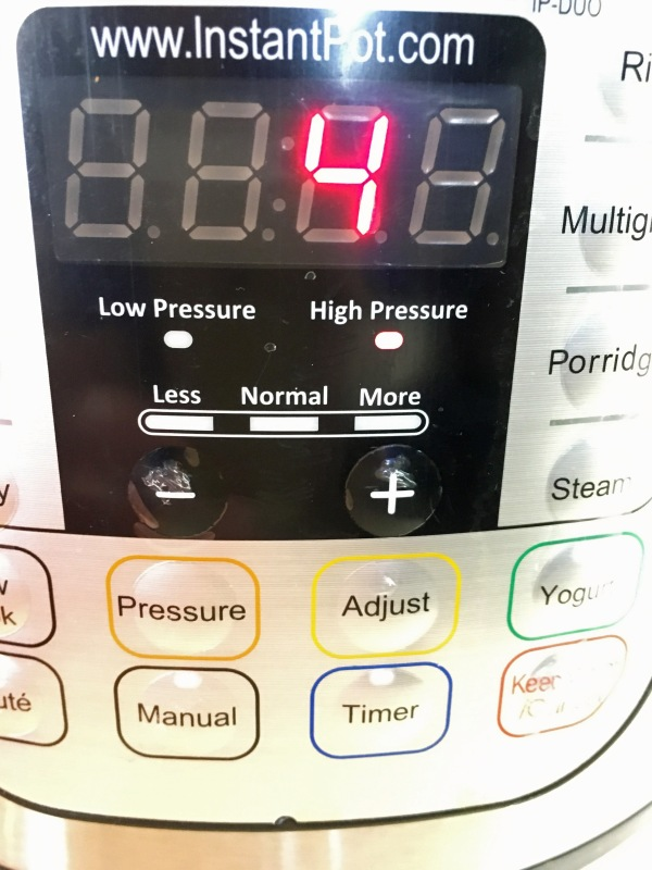 4 minutes - High pressure