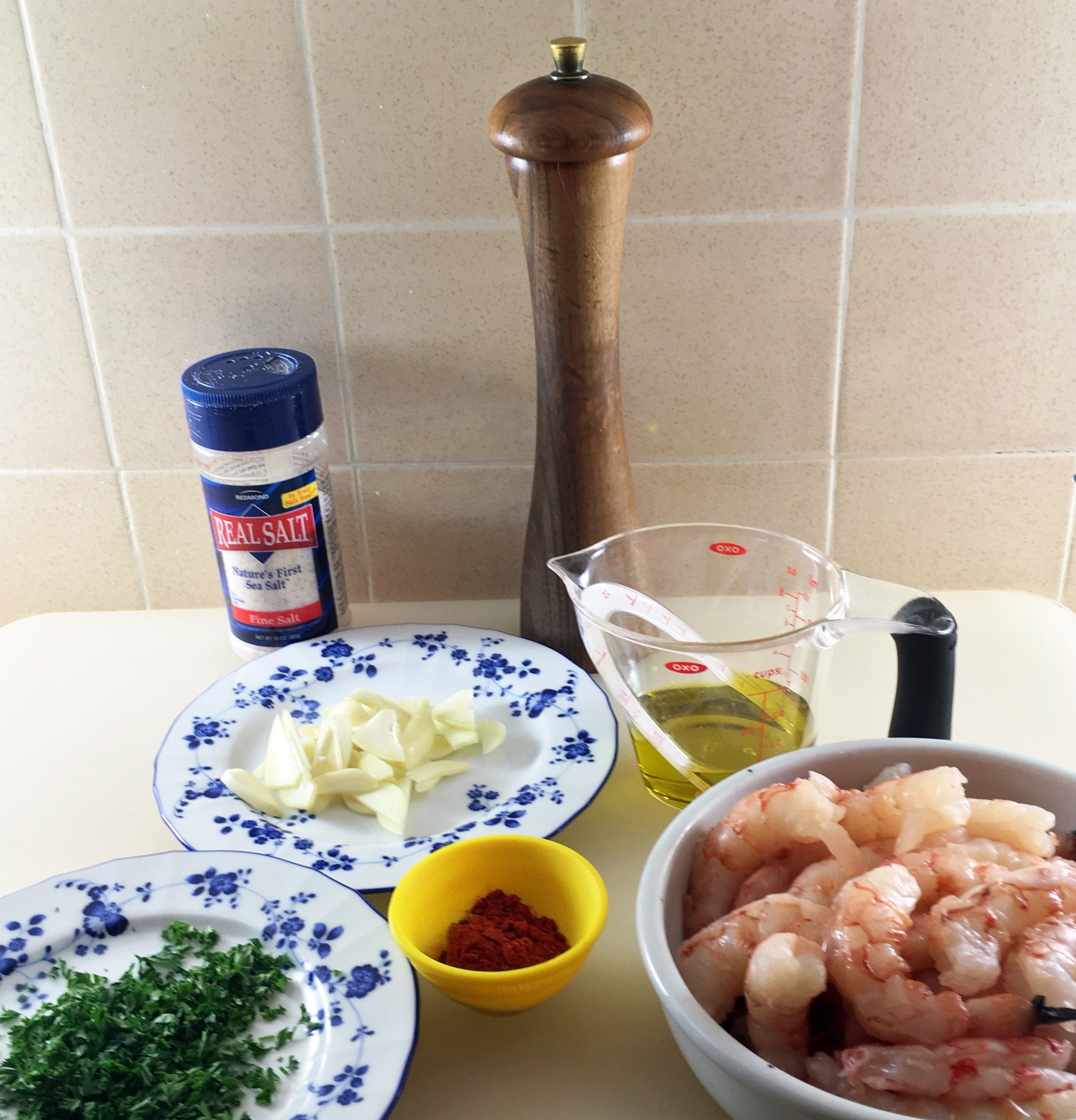 Ingredients mise en place
