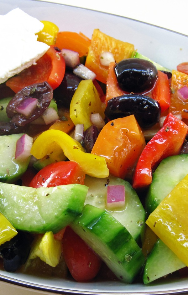 Chopped Greek Salad with Feta Cheese