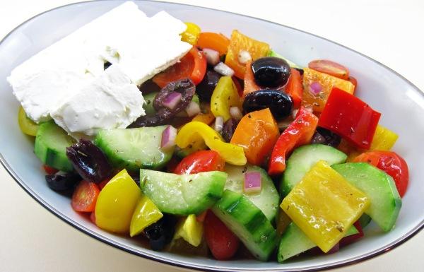 Chopped Greek Salad with Feta