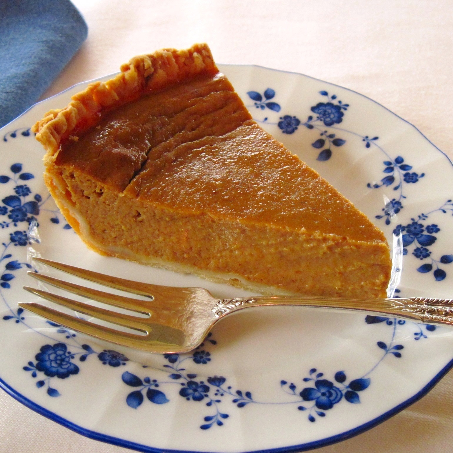 Naturally sweetened pumpkin pie