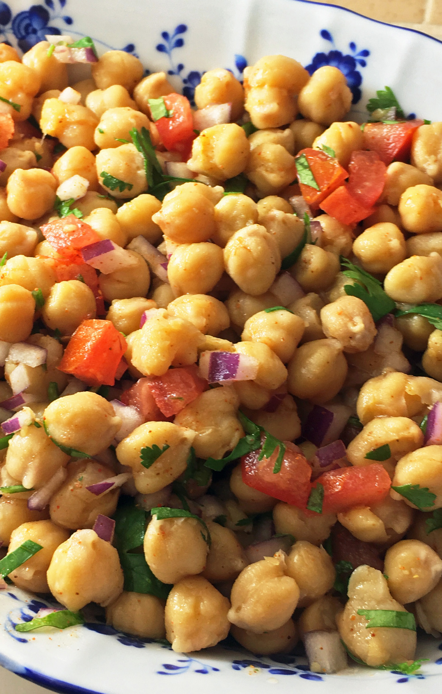 chana salaad - chickpea salad