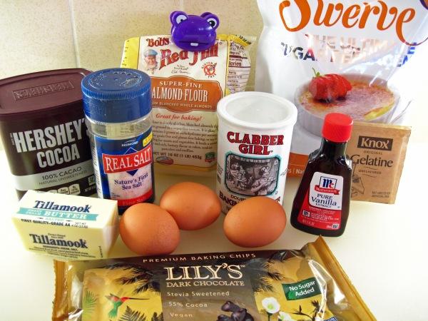 Ingredients for Fudgy Keto Brownies